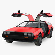 80年代スポーツカーデロリアンリグド 3d model