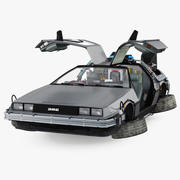 DeLorean DMC-12 Time Machine attrezzata 3d model