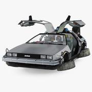 DeLorean DMC-12 Time Machine Rigged 3d model