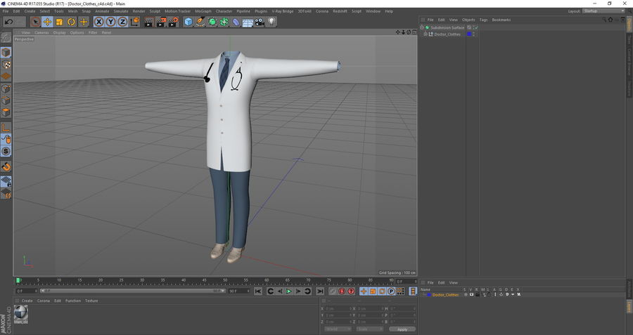 Doctor Clothes royalty-free 3d model - Preview no. 12