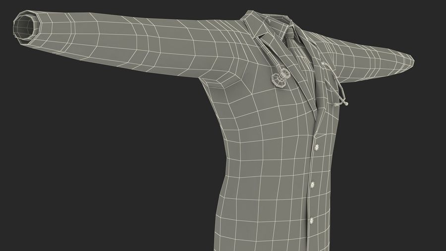 Doctor Clothes royalty-free 3d model - Preview no. 15