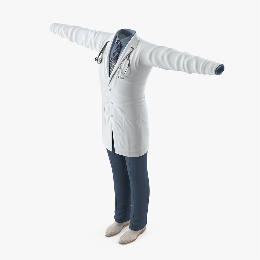 Doctor Clothes royalty-free 3d model - Preview no. 1