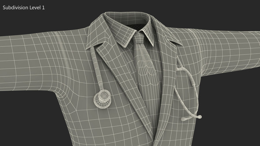 Doctor Clothes royalty-free 3d model - Preview no. 9