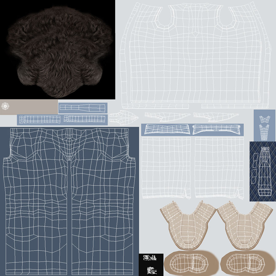 Doctor Clothes royalty-free 3d model - Preview no. 10