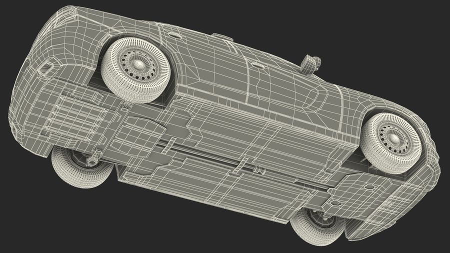 Politieauto royalty-free 3d model - Preview no. 31