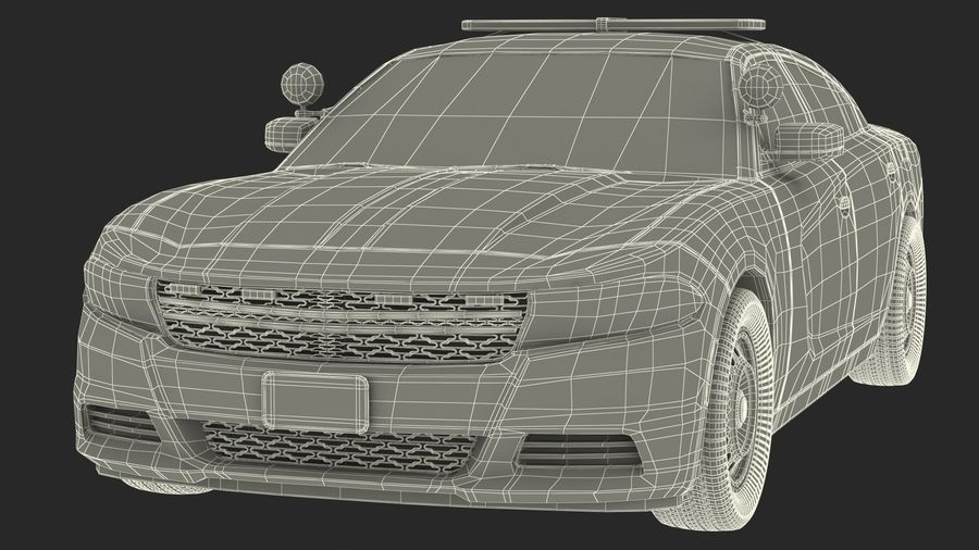 Politieauto royalty-free 3d model - Preview no. 28