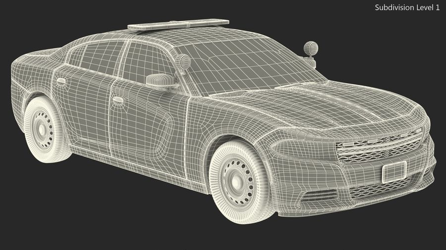 Politieauto royalty-free 3d model - Preview no. 22
