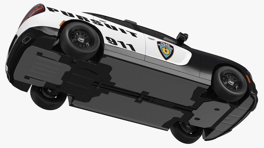 Politieauto royalty-free 3d model - Preview no. 15