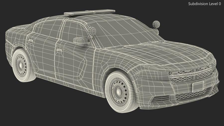Politieauto royalty-free 3d model - Preview no. 21