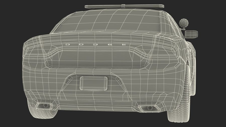 Politieauto royalty-free 3d model - Preview no. 29