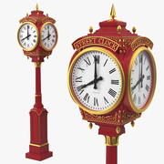 City Street Clock Rood 3d model