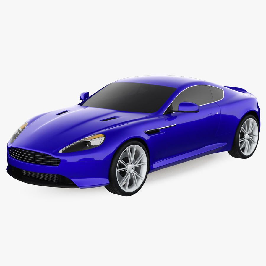 Luxury Sport Car Simple Interior royalty-free 3d model - Preview no. 1
