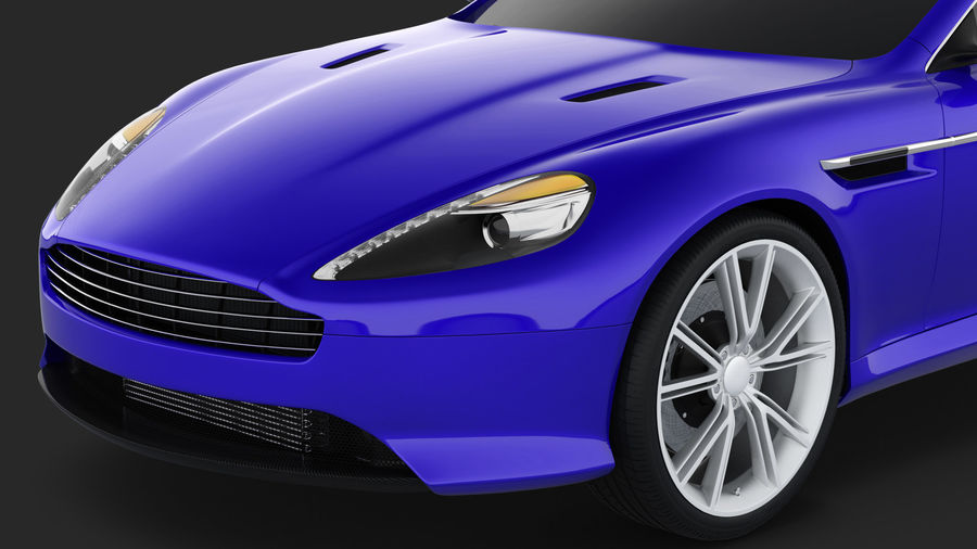 Luxury Sport Car Simple Interior royalty-free 3d model - Preview no. 10