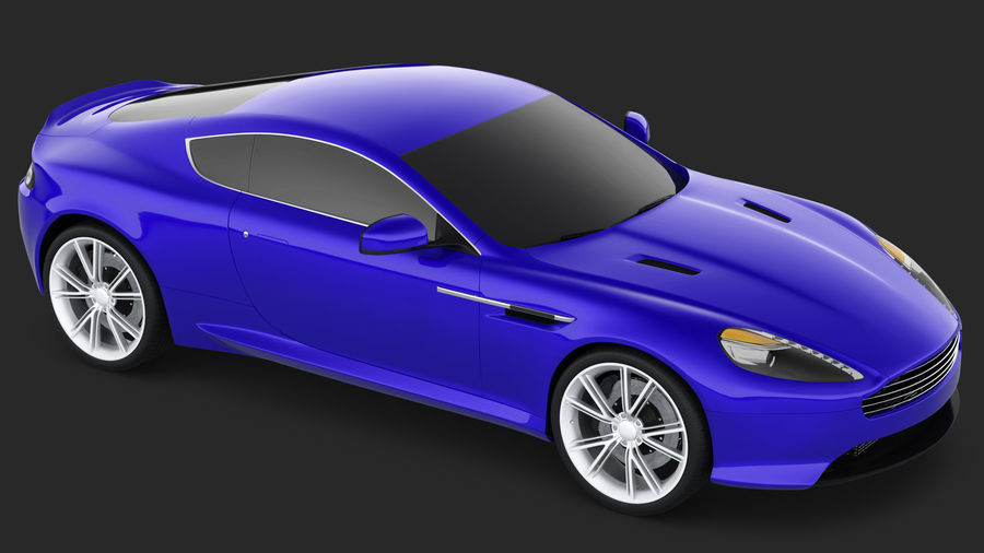Luxury Sport Car Simple Interior royalty-free 3d model - Preview no. 7