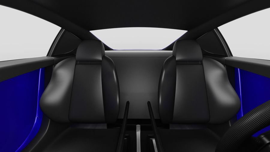 Luxury Sport Car Simple Interior royalty-free 3d model - Preview no. 16