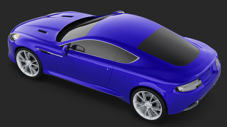 Luxury Sport Car Simple Interior royalty-free 3d model - Preview no. 5