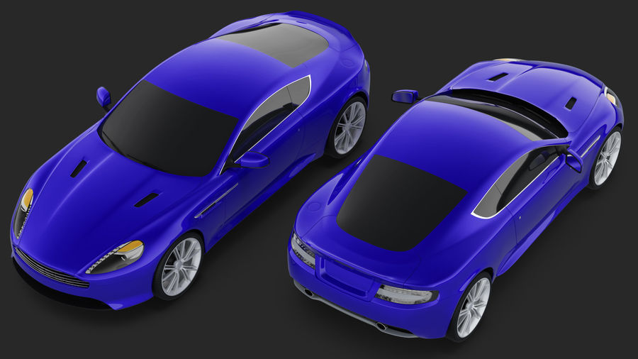 Luxury Sport Car Simple Interior royalty-free 3d model - Preview no. 8