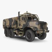 Medium Tactical Vehicle with Tent Sand Camo 3d model