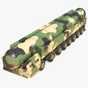 ICBM Lunch Vehicle Dusty Rigged 3d model