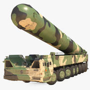 Dongfeng-41 ICBM Lunch Vehicle Dusty Rigged 3d model