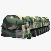 Dongfeng-41 ICBM Lunch Vehicle Rigged 3d model