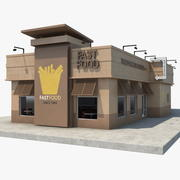 Ristorante fast food 3d model
