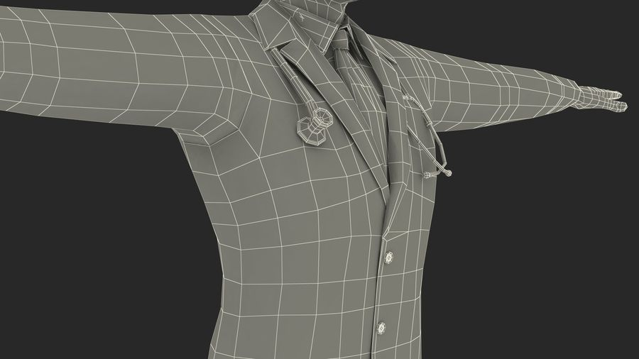 Male Doctor Rigged royalty-free 3d model - Preview no. 25