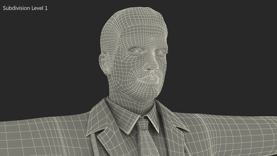 Male Doctor Rigged royalty-free 3d model - Preview no. 21