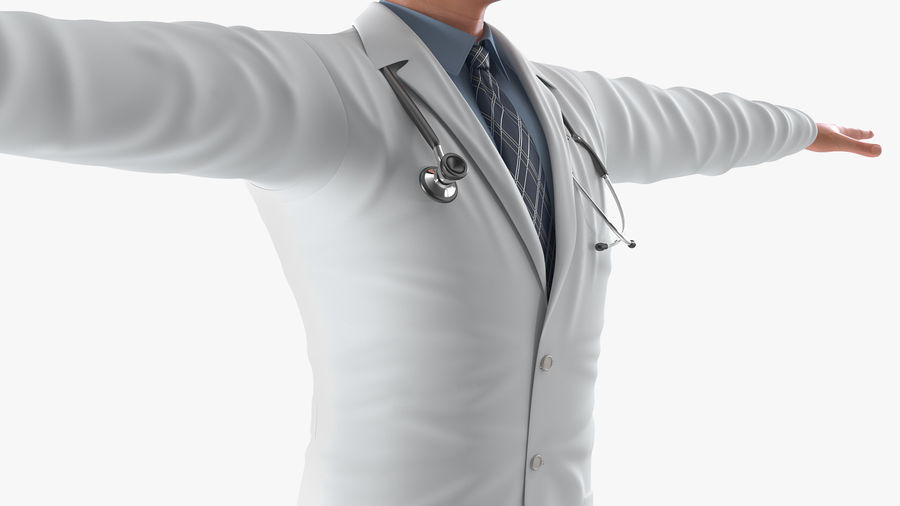 Male Doctor Rigged royalty-free 3d model - Preview no. 14