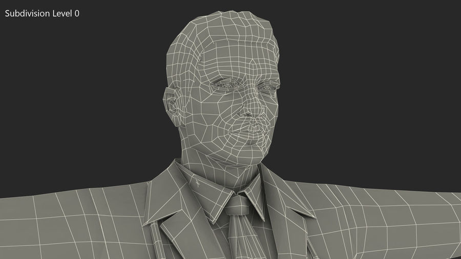 Male Doctor Rigged royalty-free 3d model - Preview no. 20
