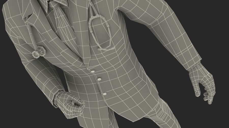 Male Doctor Rigged royalty-free 3d model - Preview no. 28