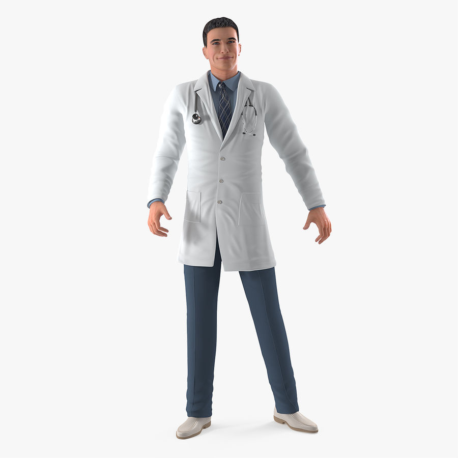 Male Doctor Rigged royalty-free 3d model - Preview no. 1