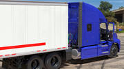 Semi Truck with Trailer Generic Rigged 3d model