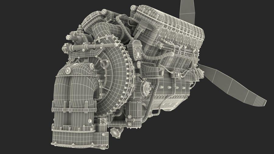 Silnik tłokowy V12 Aero royalty-free 3d model - Preview no. 18