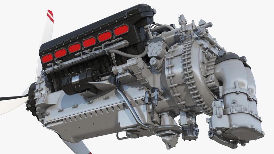 Silnik tłokowy V12 Aero royalty-free 3d model - Preview no. 4