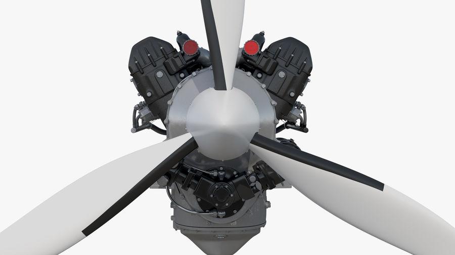 Silnik tłokowy V12 Aero royalty-free 3d model - Preview no. 8