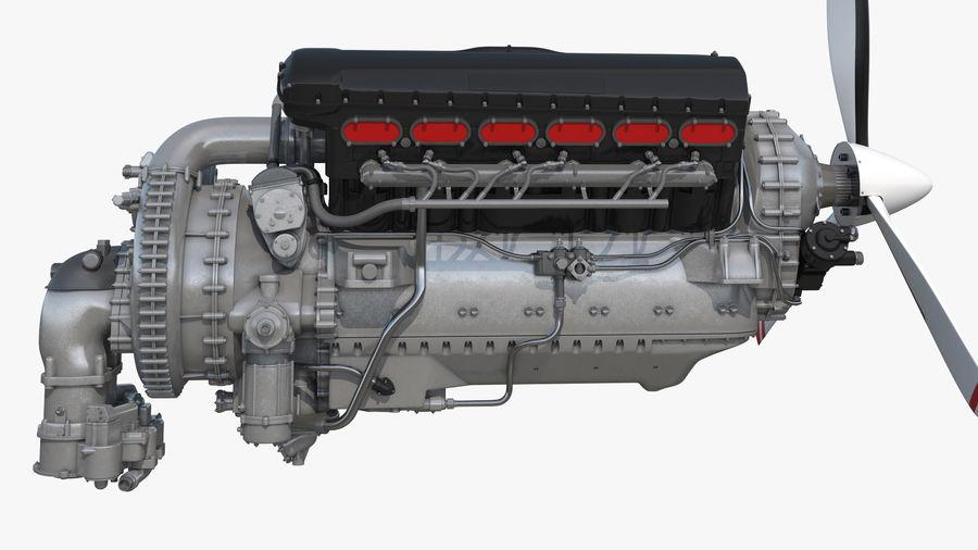 Silnik tłokowy V12 Aero royalty-free 3d model - Preview no. 3