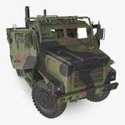 Medium Tactical Vehicle 6x6 Dusty Rigged 3d model