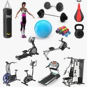 Kolekcja siłowni 4 3d model