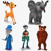 Cartoon Rigged Characters Collection 2 for Maya 3d model