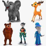 Сборник мультфильмов 2 для Cinema 4D 3d model