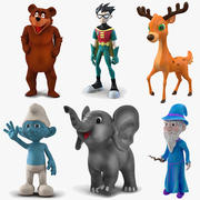 Cartoon Rigged Characters Collection 3 dla Maya 3d model
