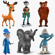 Сборник мультфильмов 3 для Cinema 4D 3d model