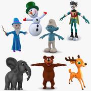 Сборник мультфильмов 4 для Cinema 4D 3d model