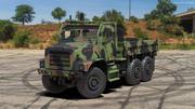 군용화물 트럭 OshKosh MTVR MK23 Rigged 3d model