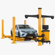 Equipo de alineación de ruedas Toyota Camry Car modelo 3d