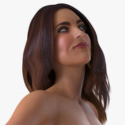 Donna nuda attrezzata per Cinema 4D 3d model