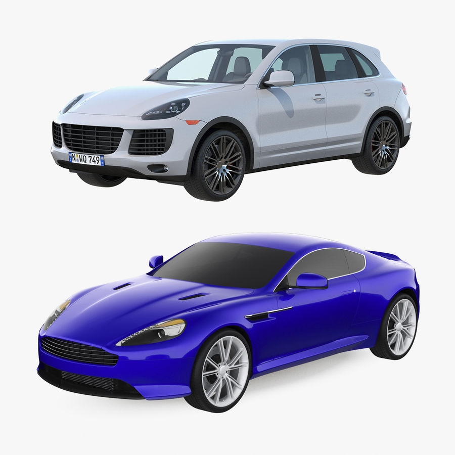 Luxury Cars Collection royalty-free 3d model - Preview no. 1