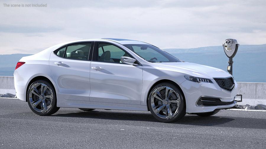 Sport Sedan Generic royalty-free 3d model - Preview no. 5