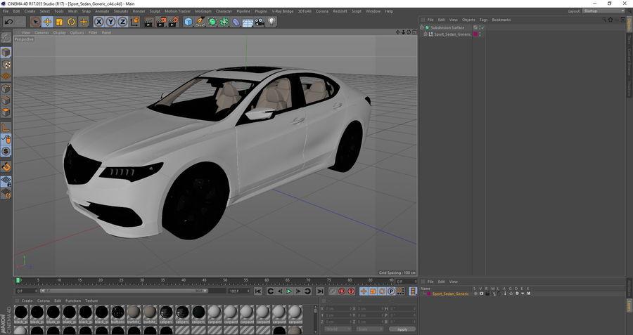 Sport Sedan Generic royalty-free 3d model - Preview no. 27